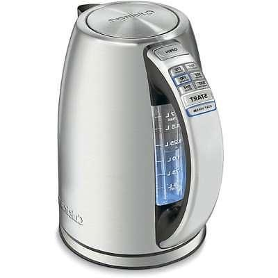 Electric Tea Kettle Stainless Steel 1.75 Hot Water Quart 150