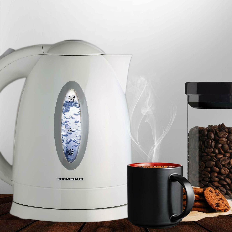 Electric Tea Kettle Steel Hot Kitchen Cordless Fast