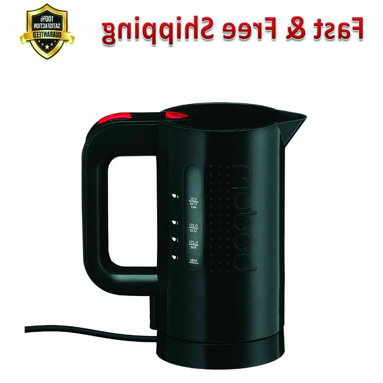 Electric Water Kettle 17 Ounce Black Plastic BPA Free Manual