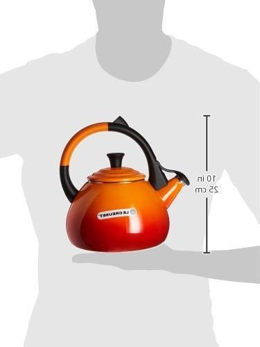 Enamel On Steel 1.6 Qt. Oolong Tea Color: Flame