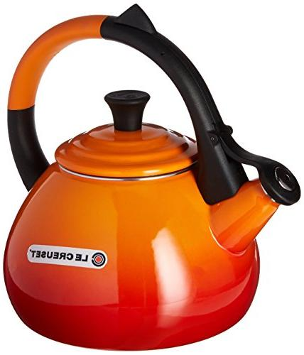 Enamel On Steel 1.6 Qt. Oolong Tea Kettle Color: Flame