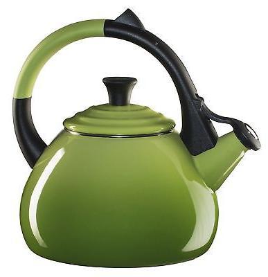 Le Creuset Enameled Steel 1.6 Quart Oolong Tea Kettle, Palm