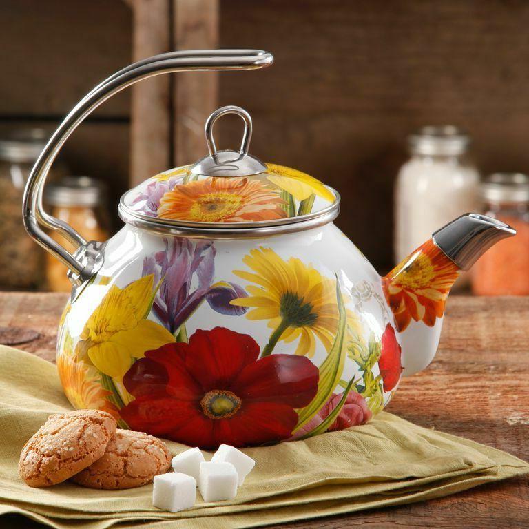 The Pioneer Woman Flower Garden 2.3 qt Tea Kettle Kitchenwar