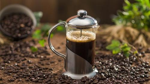 Ovente French Coffee and High-Grade Stainless Steel, Nickel Brushed, 20 oz Elegant Leaf FREE Measuring