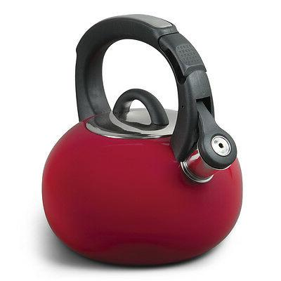 Gibson Mr. Coffee Piper Shine Tea Kettle in Red