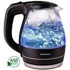 Glass Electric Tea Kettle 1.5 Liter Teapot BPA Free Black Au