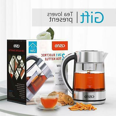 Glass Electric Water 1.7L w/ for Tea Coffee Fast