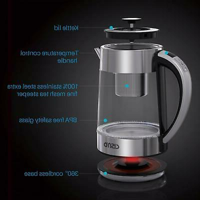 Glass Electric Kettle 1.7L for Fast