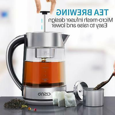 2 in 1 Electric Kettle Tea Infuser for 1500W 1.7L
