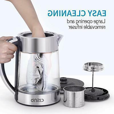 Glass Electric 1.7L w/ Tea for Fast Boil