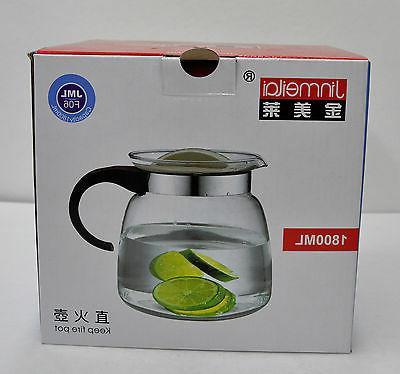 Jinmeilai Glass Tea Kettle 1.8 Liter  12 Cup JML F06 Fire Po