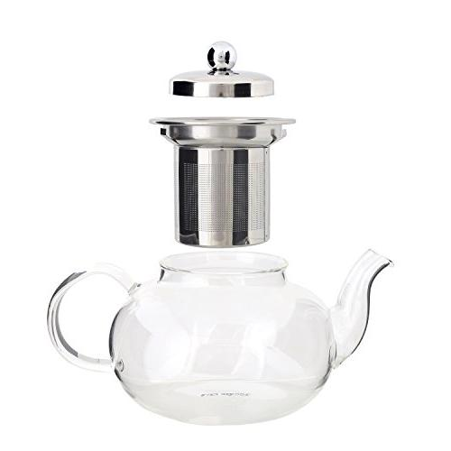 Glass Kettle Infuser - Steel and Strong Clear Glass Tea Pot - ml / by