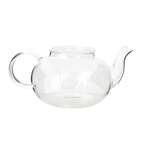 Glass Teapot Kettle with Infuser - Steel Strainer Lid Loose and Tea - Strong Clear Tea Pot 700 ml / Ounces by Aid