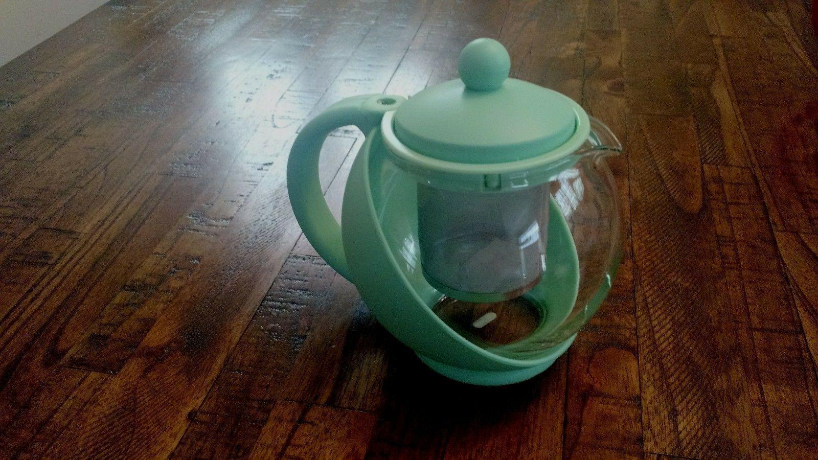 Glass Teapot Tea Kettle 6 Cup 48 Green
