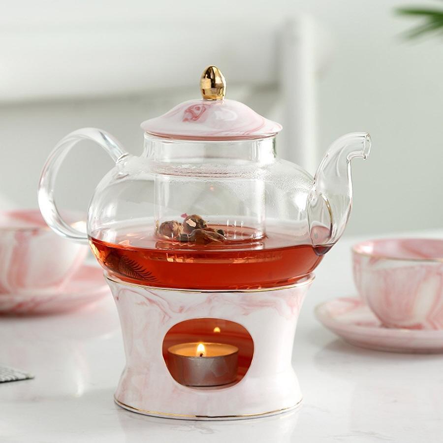 MUZITY Teapot With <font><b>Ceramic</b></font> Marble <font><b>Tea</b></font> Tool Strainer