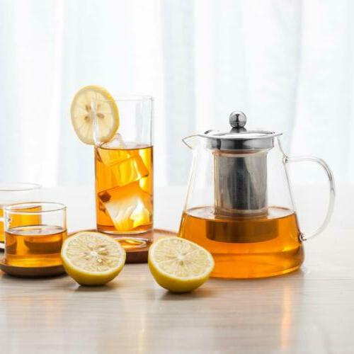Glass Teapot with Infuser 950ml/32oz Tea kettle Loose Leaf T