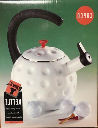 golf sports whistling tea kettle 2 5