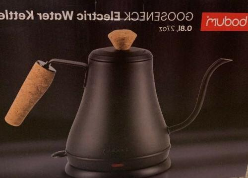 goose neck electric water kettle with decorative