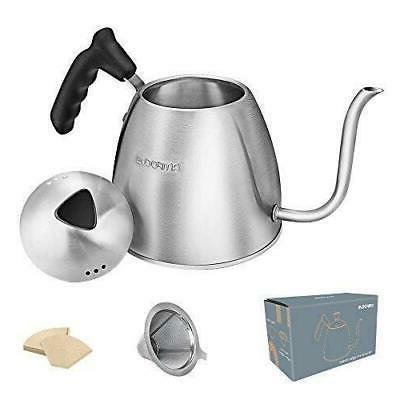gooseneck kettle tea pour