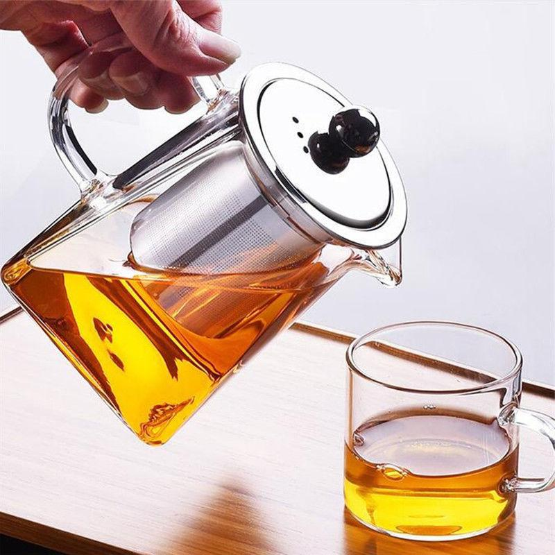 Heat Resistant Teapot with Strainer Tea Pot 350ml