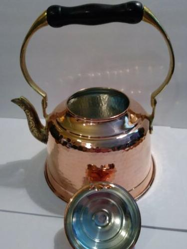 CopperBull Heavy Gauge Thick Copper Pot Kettle
