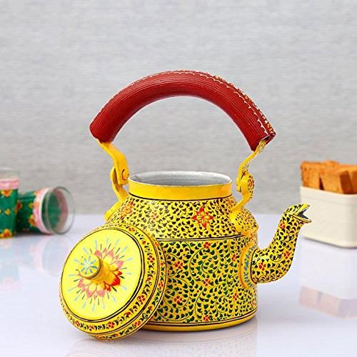 Indian Steel Tea Kettle Tea Pot