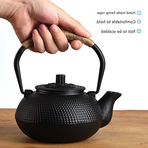 TOWA Japanese Tetsubin Tea Teapot Infuser Black 22