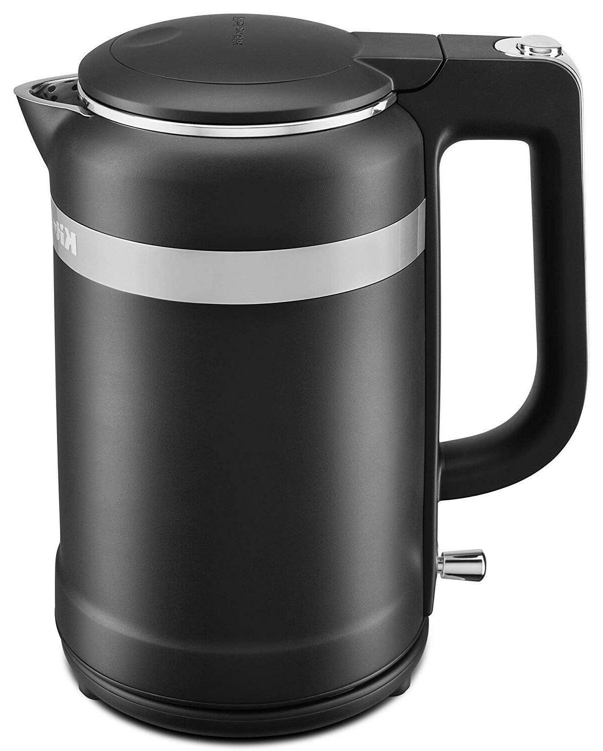 KitchenAid KEK1565BM 1.5-Liter Electric Kettle with LED Display -Black  Matte NEW