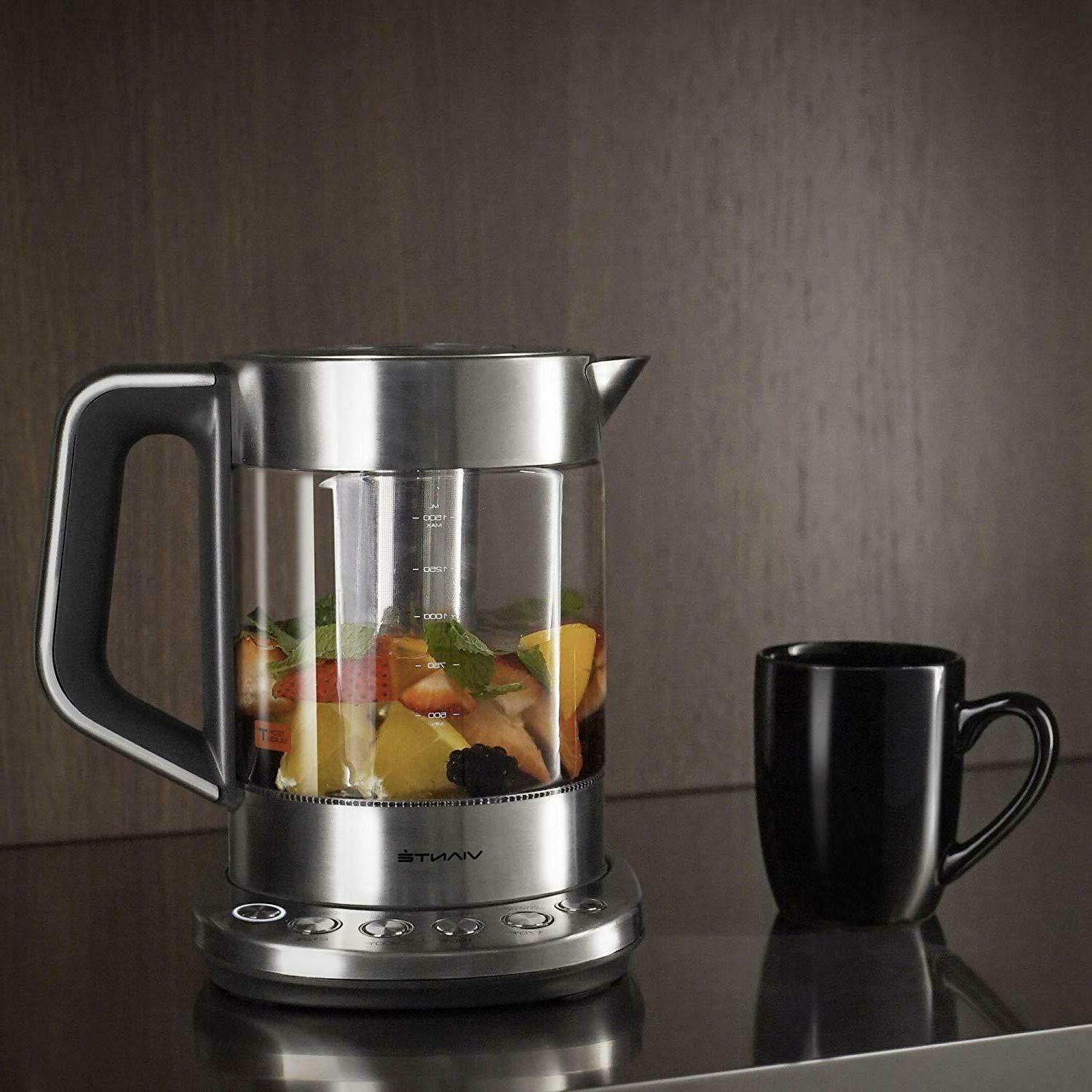 electric glass tea kettle with tea infuser