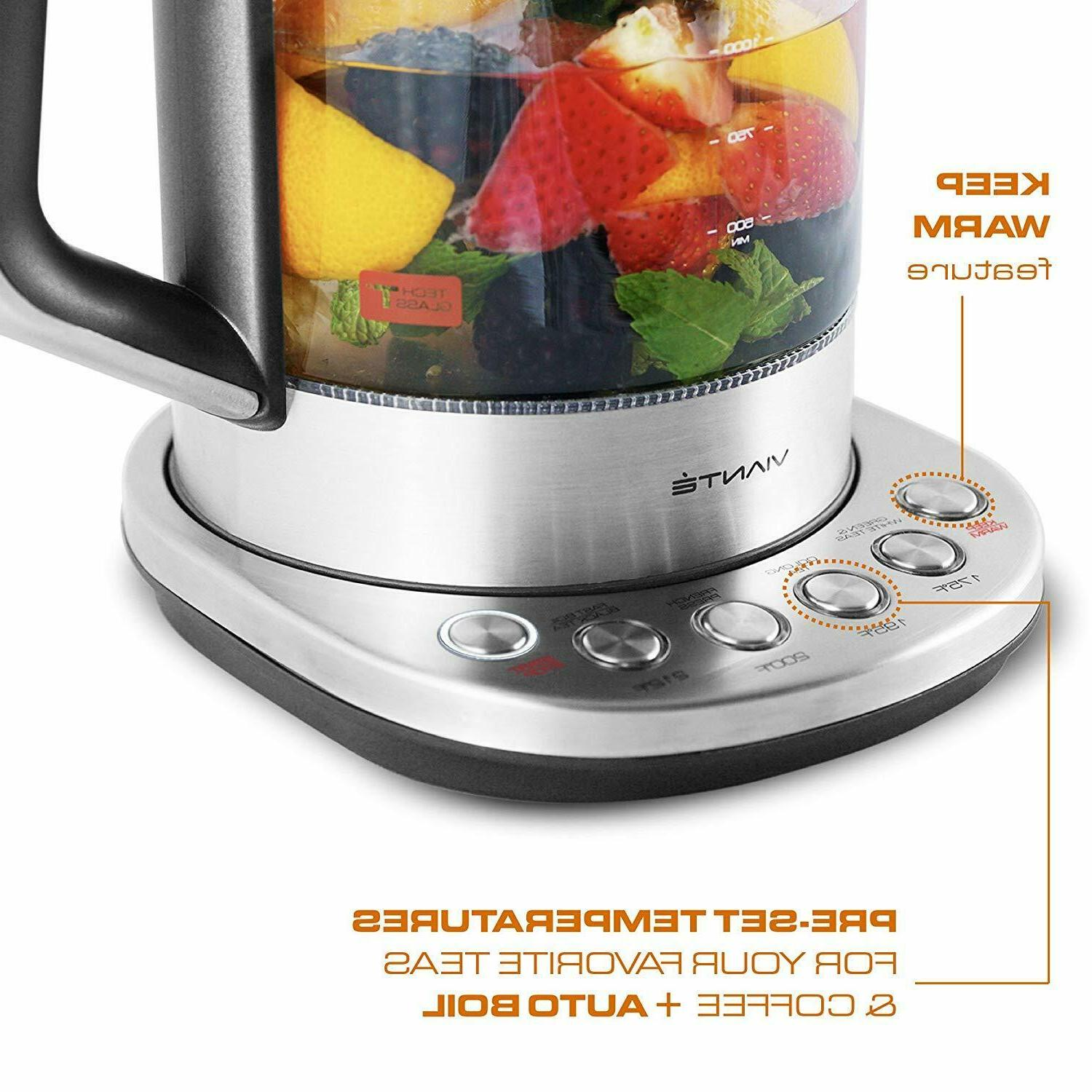 Electric Glass Tea with Tea Infuser Programmable Control