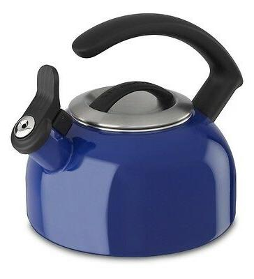 KitchenAid 1.5-Quart Rem Lid Tea Kettle Whistle KTEN15ANdb D