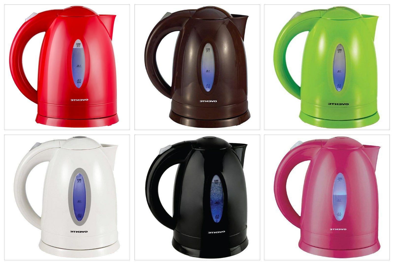 Ovente 1.7L Cordless Glass Tea Water Boiller BPA