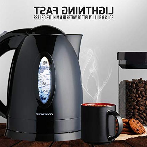 Ovente Electric Illuminated Black