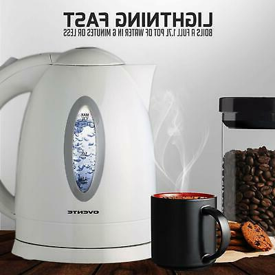 Ovente KP72W BPA-Free Electric Fast Cordless Water Boiler w