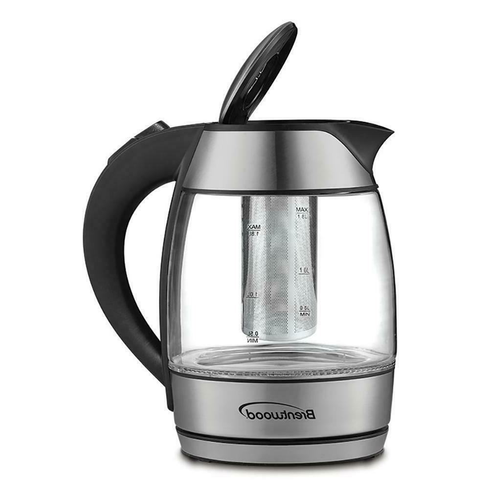Brentwood Cordless Glass Tea