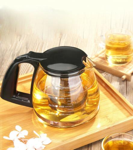 Leaf Kettle Tea Pot Glass Kettles capacity set