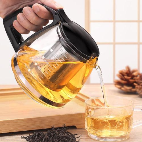 Leaf Strainer Kettle Tea Pot Lead-Free Glass Tea Kettles Lar