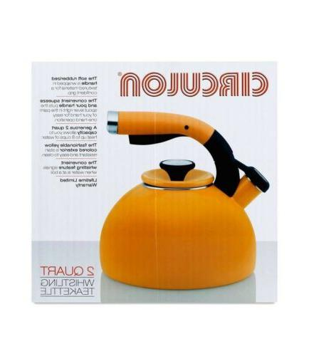 Circulon Bird Whistling Tea Kettle, - Mustard