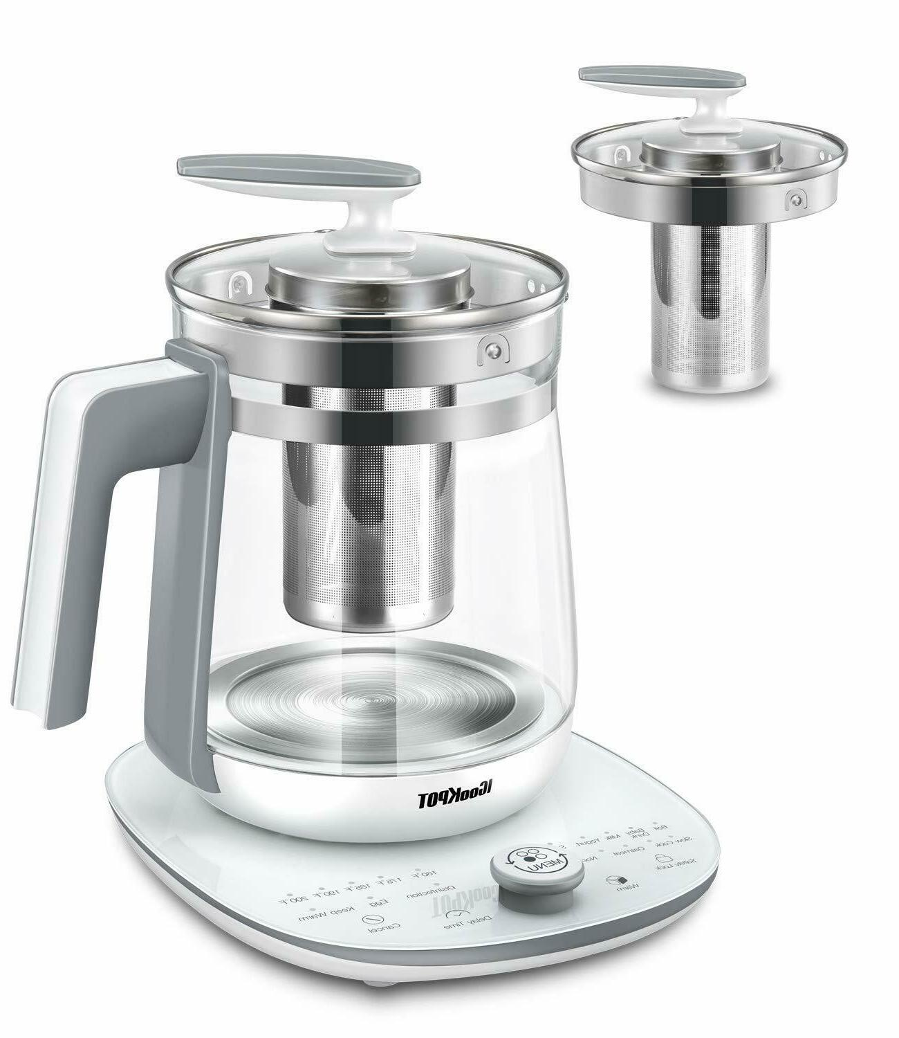 Multi-Use Electric Glass Tea Maker Programmable Control
