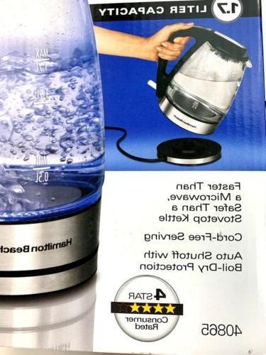 NEW Hamilton Beach 1.7 Liter GLASS for Hot Water,