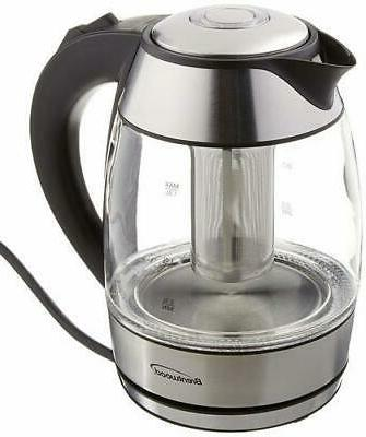 new borosilicate glass tea kettle with infuser