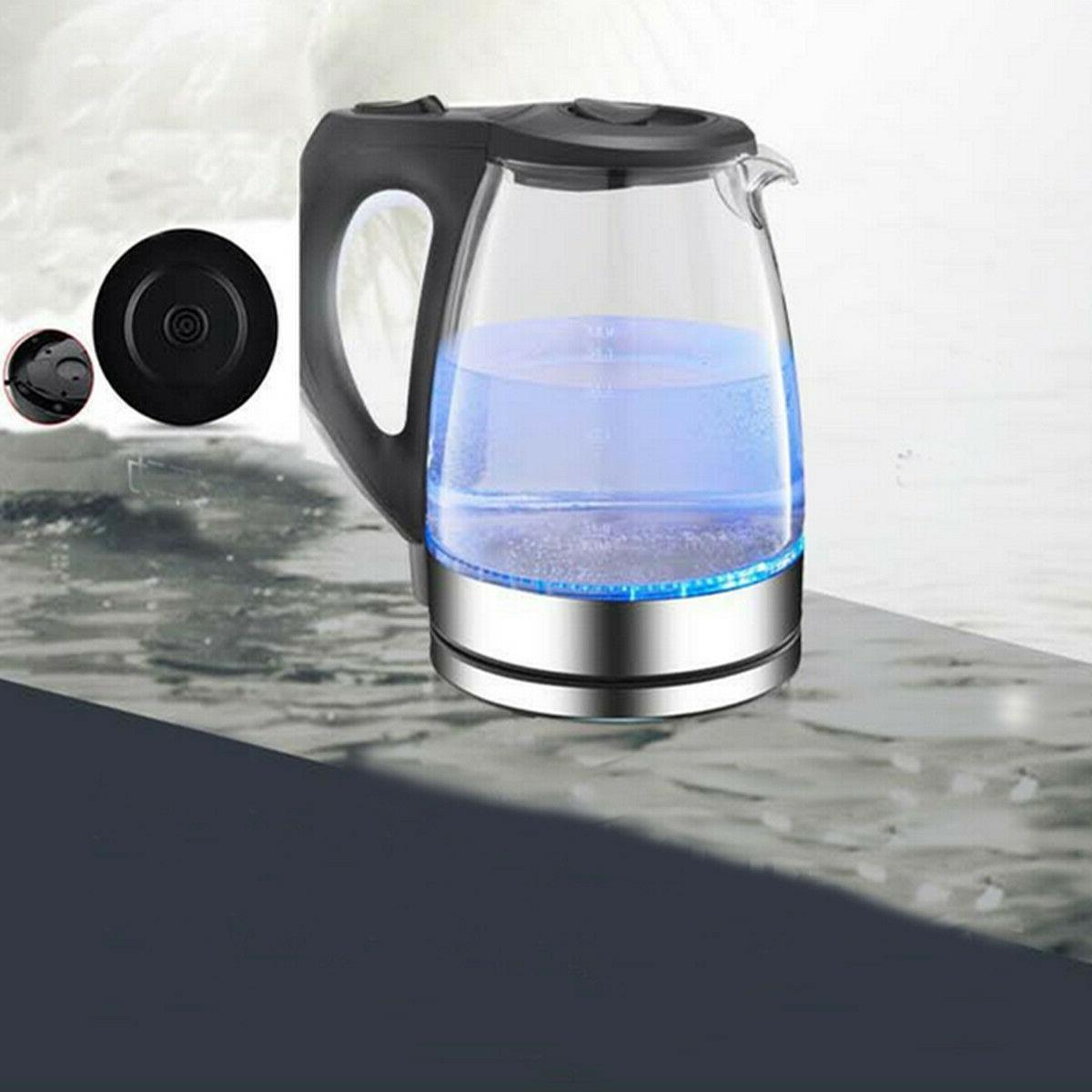 New Tea Makers Water Boil Pot Glass Light 1.7L