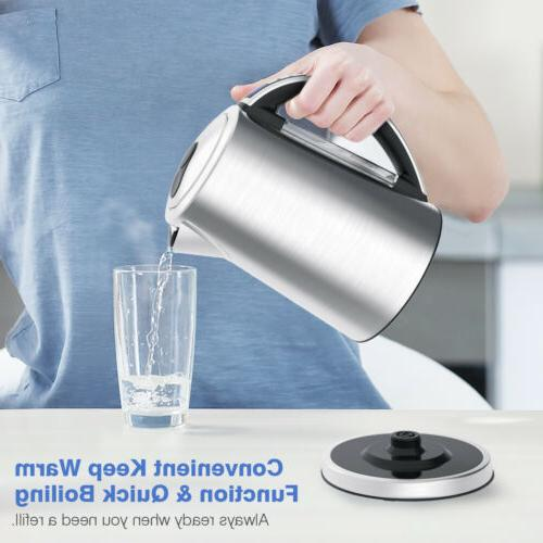 New Electric Kettle 1.7L Cordless Water Auto Shut Off with