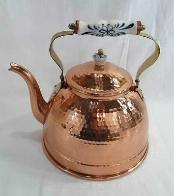 New Hammered Kettle Capacity Porcelain & Knob
