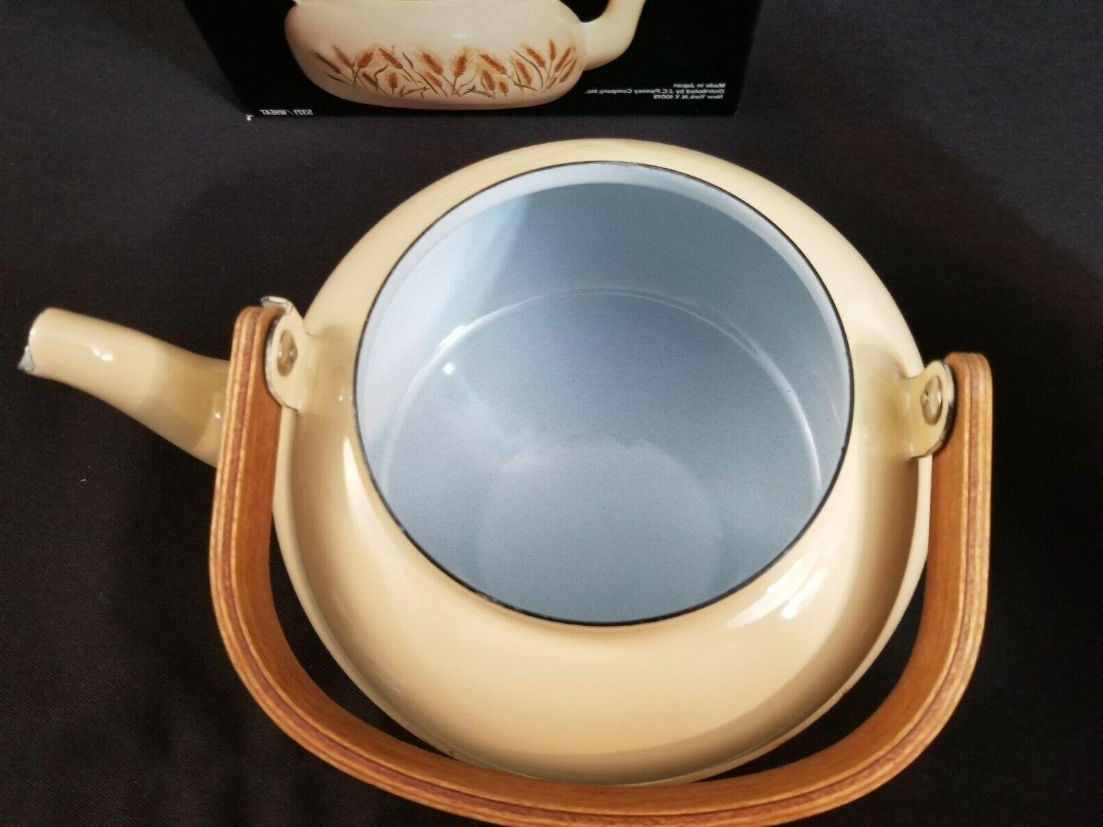 New, Tea w/ Wheat Pattern From J.C. #5321