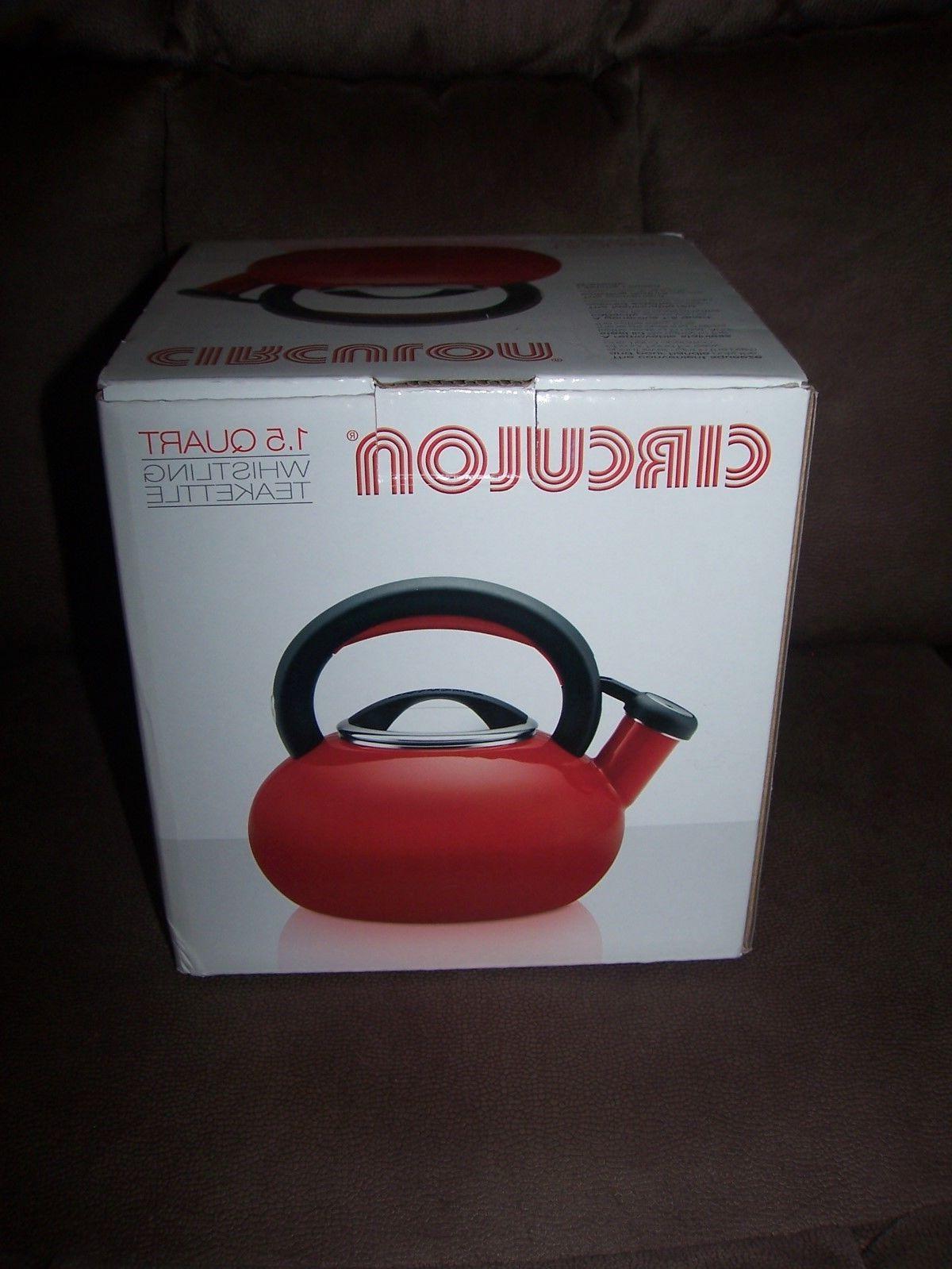 1.5-Quart Sunrise Teakettle, Rhubarb Red NEW!