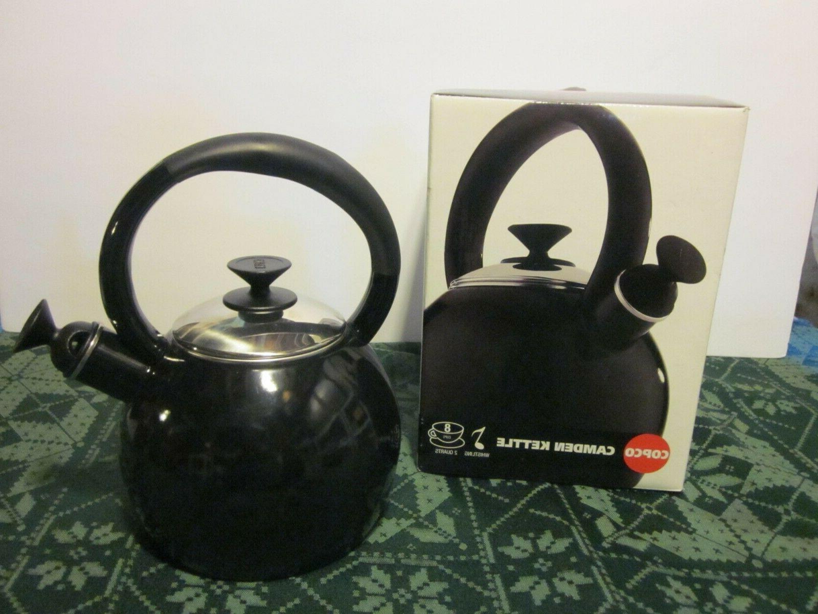 NIB TEAPOT BLACK CUP RESIST IN BOX