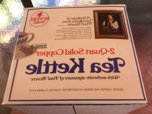 NIB VINTAGE 2 QT. TEA KETTLE #2252-2 ~NEW IN BOX