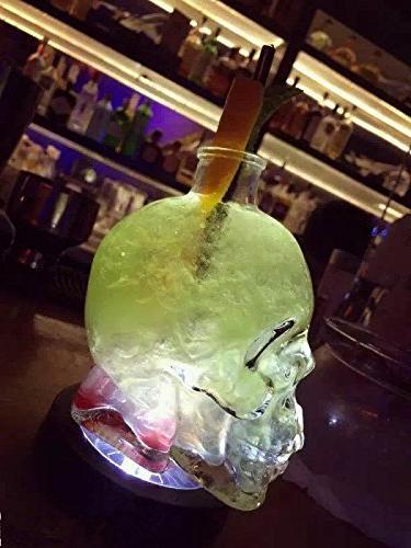 ✅Skull Party,Skull Decanter, Creative Bottle, Bottle,Wine Carafe ml Glass Kettle Ounces-Alcohol