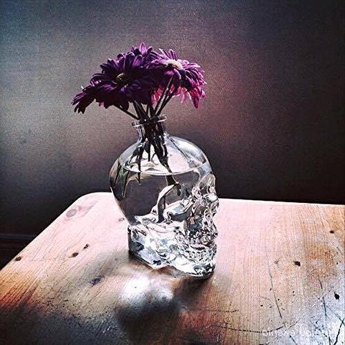 ✅Skull Bottle for Party,Skull Creative Bottle, Glass,Whiskey Bottle,Wine Decanter,750 Glass Bottles,Glass Kettle 25.6 Ounces-Alcohol Gifts